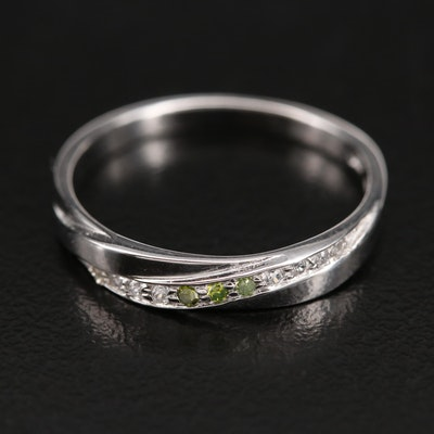 Sterling Diamond and Zircon Band
