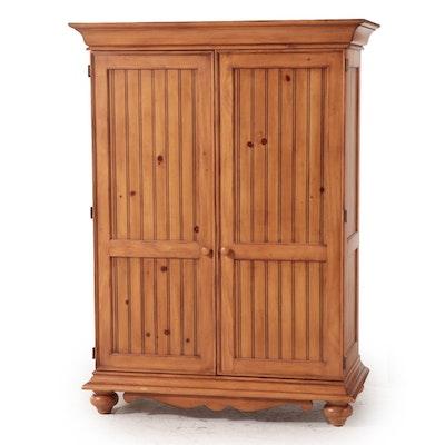 Pine Beadboard-Paneled Media Cabinet