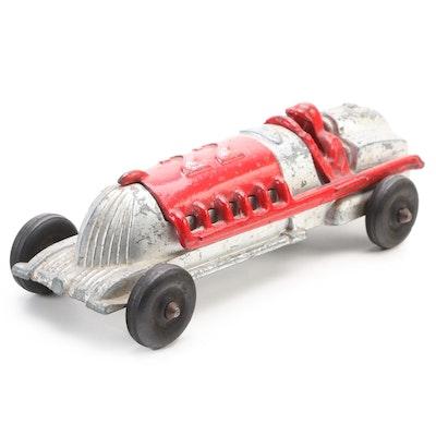 Hubley Cast Metal Open Seat Race Car, Mid-20th Century