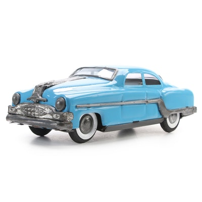 Amar Toy Blue Pontiac Chieftain Friction Car, Mid-20th Century