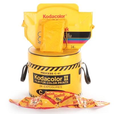 Kodak Kodacolor II Film Vinyl Insulated Cooler, Bag, Infatables and Rain Poncho