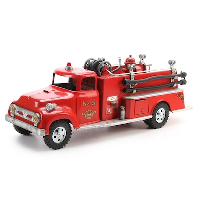 Tonka Toys No. 5 Fire Truck Pressed Steel Toy, 1950s