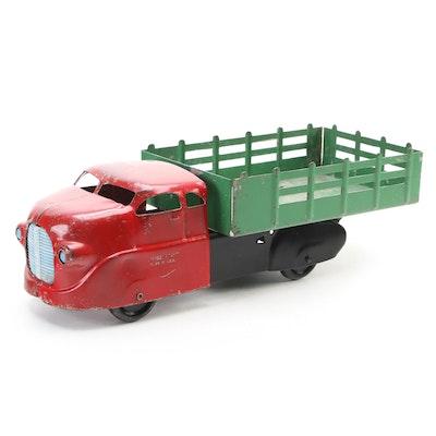 Wyandotte Toys Pressed Steel Open Trailer Truck Toy, Mid-20th Century