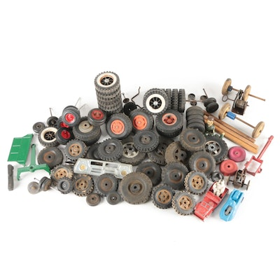 Tonka, Structo Toys, and Other Toy Car Wheels and Parts