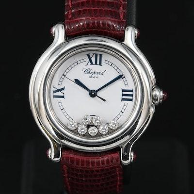 """Chopard """"Happy Sport"""" Swiss Made Diamond Wristwatch"""