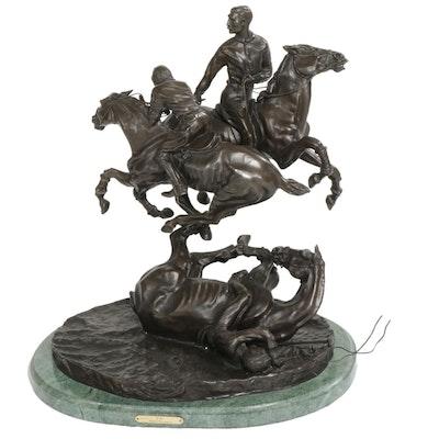 "Bronze Sculpture After Frederic Remington ""Polo"""