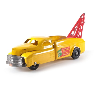 Buddy L Company Emergency Auto Wrecker Pressed Steel Truck Toy, Mid-20th C.