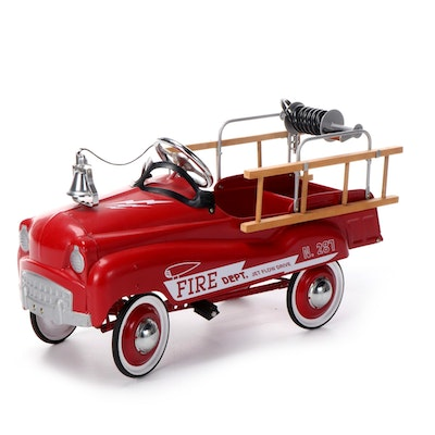 Fire Engine Pedal Car, Mid-20th Century