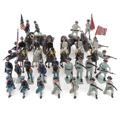 Johillco and Other American Civil War Lead and Iron Toy Soldiers, Mid-20th C.