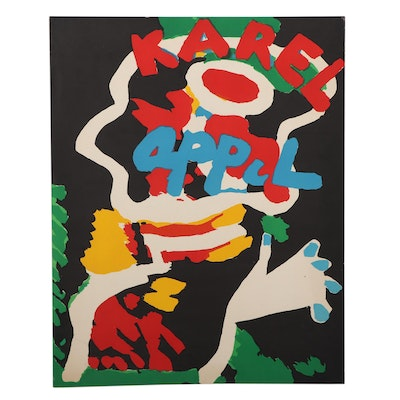 Karel Appel Color Lithograph, Late 20th Century