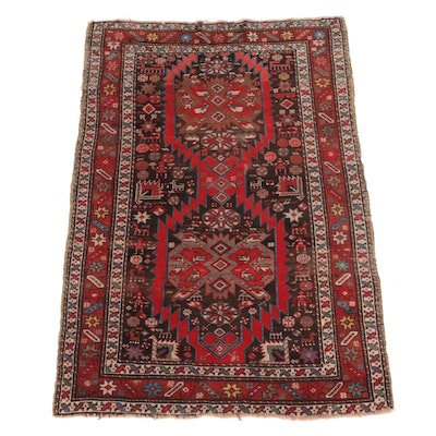 4'2 x 6'5 Hand-Knotted Persian Gorevan Area Rug
