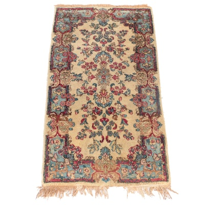 2'1 x 4'1 Hand-Knotted Persian Yazd Accent Rug