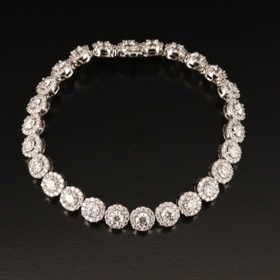14K 10.01 CTW Diamond Line Bracelet