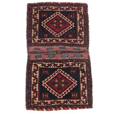 1'11 x 3'6 Hand-Knotted Persian Qashqai Saddlebag