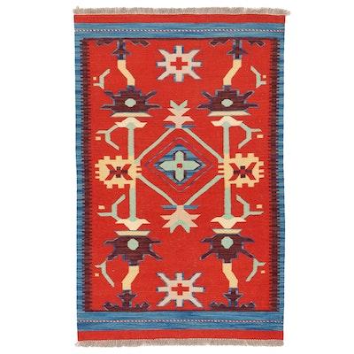 3'2 x 5'1 Handwoven Afghan Kilim Area Rug