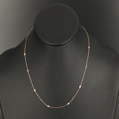 18K Bezel Set 0.23 CTW Diamond Station Necklace