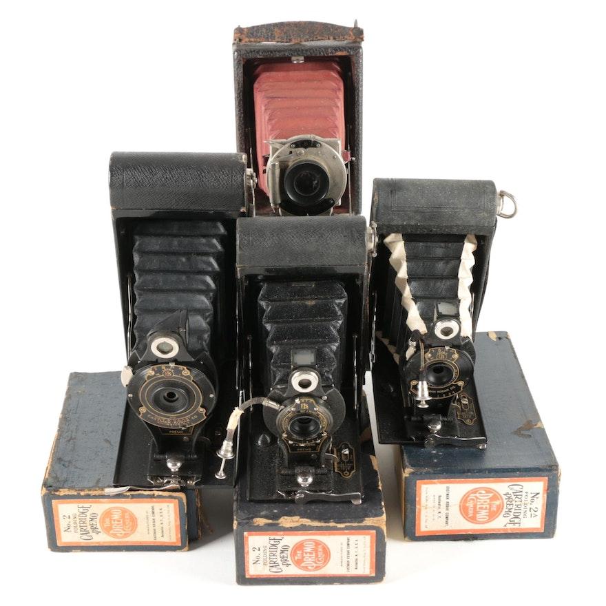 Kodak Premo Folding Bellows Cameras with Original Boxes