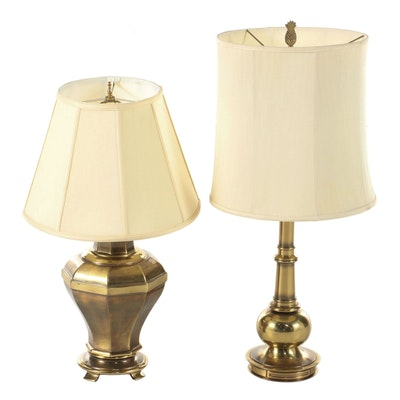 Two Brass Table Lamps Including Stiffel, Mid to Late 20th Century