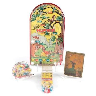 Bar Zim Toys Popeye Handheld Pinball Game and Other Handheld Pinball Games