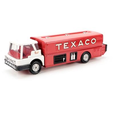 Texaco Pressed Steel Jet Fuel Tanker Truck Toy, Mid-20th Century