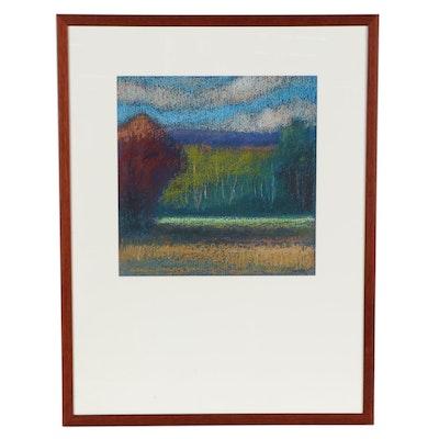 "M. Katherine Hurley Pastel Drawing ""Landscape I"""