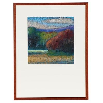 "M. Katherine Hurley Pastel Drawing ""Landscape II"""