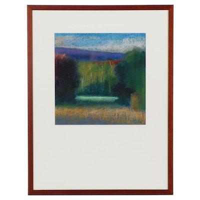 "M. Katherine Hurley Pastel Drawing ""Landscape III"""