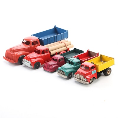 Hubley Kiddie Toy Trucks and Other Diecast Vehicles, Mid-20th Century