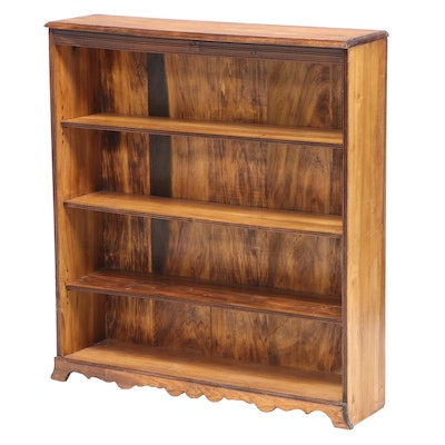 American Primitive Style Poplar Bookcase, Early to Mid 20th Century