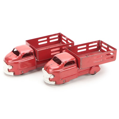 Pressed Steel Stake Bed Trucks, Early to Mid 20th Century