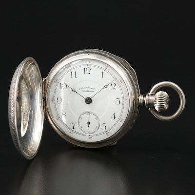 1898 American Waltham Coin Silver Pocket Watch