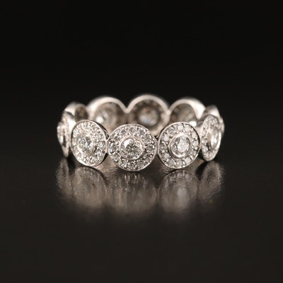 Tiffany & Co. Platinum 1.55 CTW Diamond Eternity Band