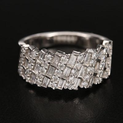 14K 1.30 CTW Diamond Multi-Row Ring
