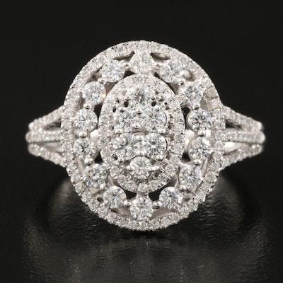 10K 1.06 CTW Diamond Openwork Ring