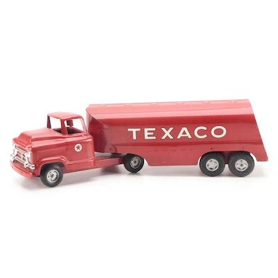 Buddy L Pressed Steel Texaco Tanker Truck, Mid-20th Century