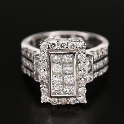 14K 2.00 CTW Diamond Layered Ring