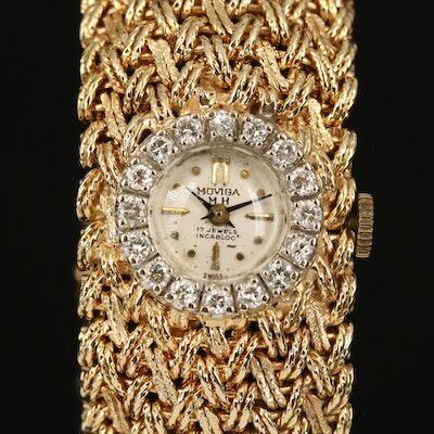 MOVIGA 14K Diamond Wristwatch