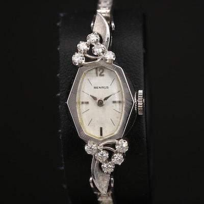 14K Benrus 0.26 CTW Diamond Wristwatch