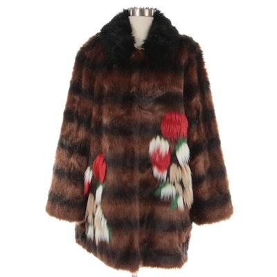 Rara Avis by Iris Apfel Faux Fur Coat