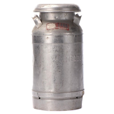 Meadow Gold Dairies of Hawaii Cast Aluminum Milk Canister, Mid-20th Century