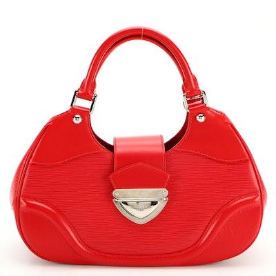 Louis Vuitton Sac Montaigne in Rouge Epi Leather