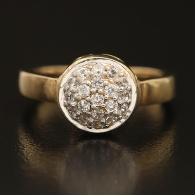 Stainless Pave White Zircon Ring