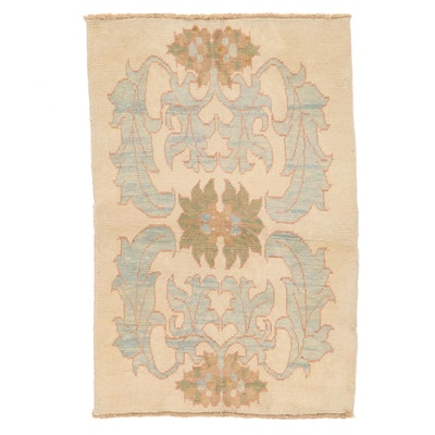 4'2 x 6'5 Hand-Knotted Turkish Donegal Style Oushak Area Rug