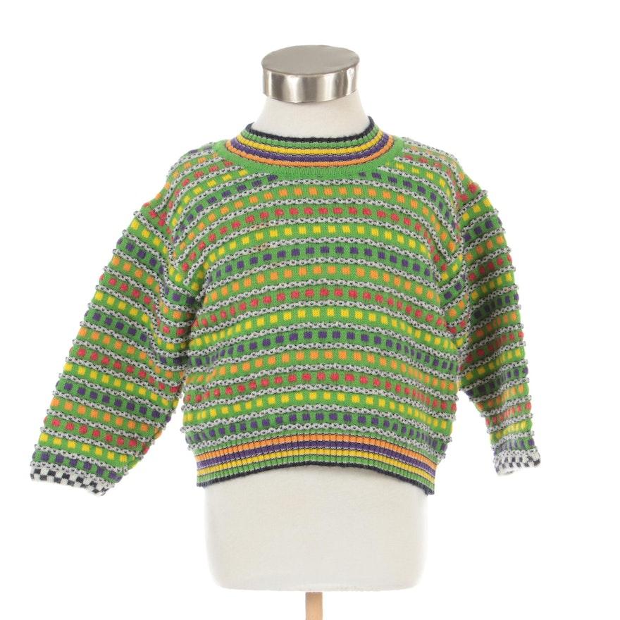Children's Missoni Multicolor Striped Crew Neck Sweater, 1970s