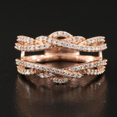 14K Rose Gold 0.50 CTW Diamond Ring Enhancer
