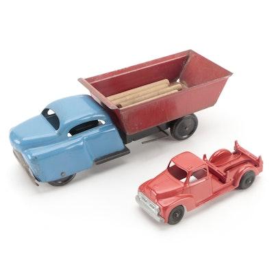 Hubley Cast Metal Kiddie Toy 452 with Wyandotte Metal Dump Truck