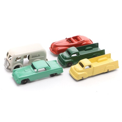 Tootsietoy Cars and Other Diecast Toy Vehicles, Mid-20th Century