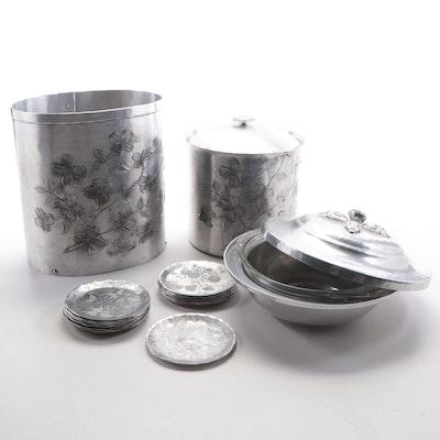 "Wendell August Forge ""Dogwood"" Handmade Aluminum Barware and Other Aluminum"