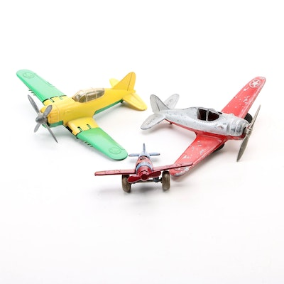 Hubley Kiddie and Barclay Mfg. Co. Diecast U.S. Military Toy Airplanes