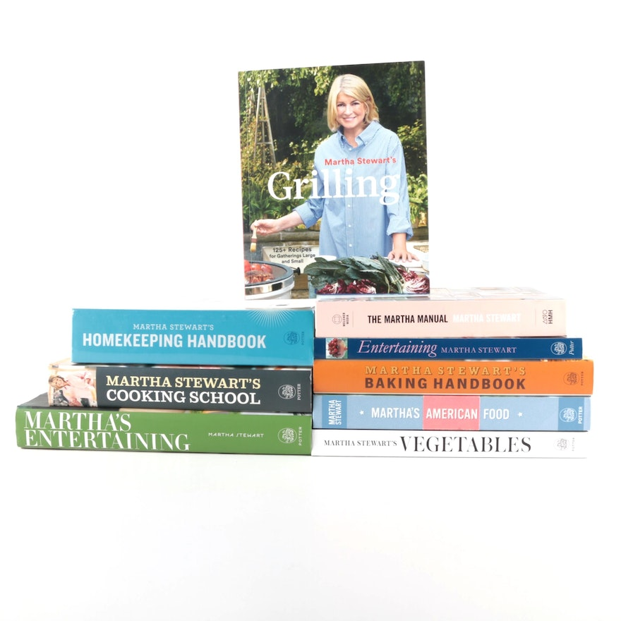 """Martha Stewart Craft and Cookbook Collection Including """"Cooking School"""""""